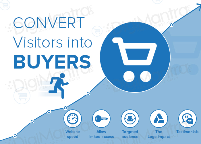 convert website visitors into customer