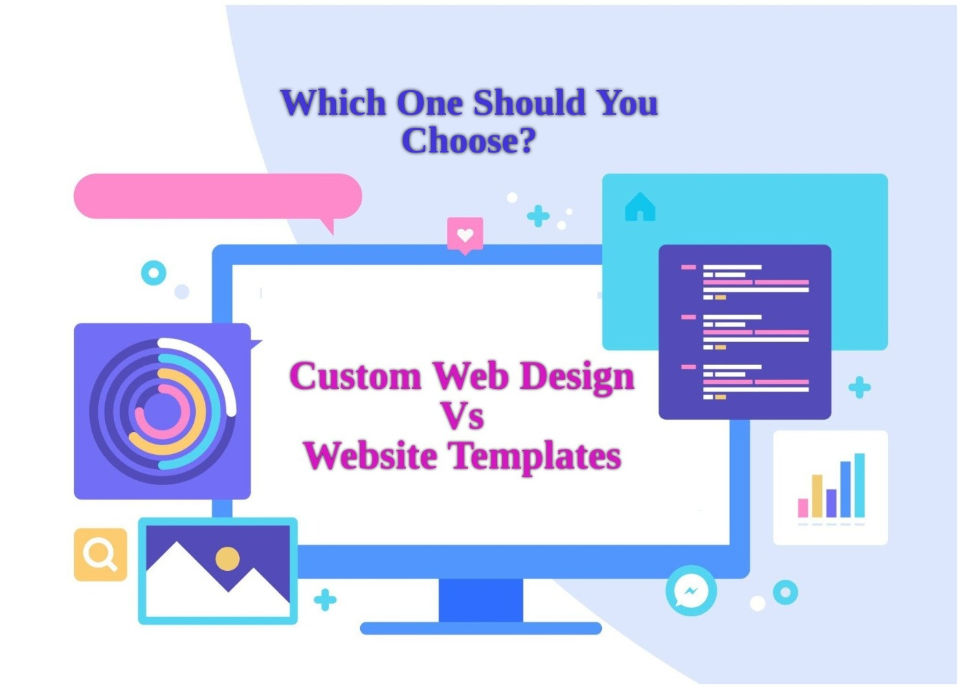 custom vs template web design